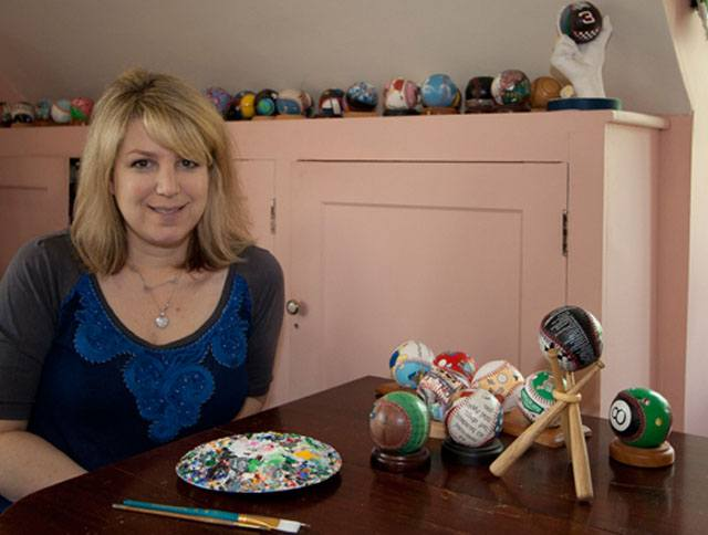 Emily Wolfson - Owner and Artist of the Unforgettaball! Baseball