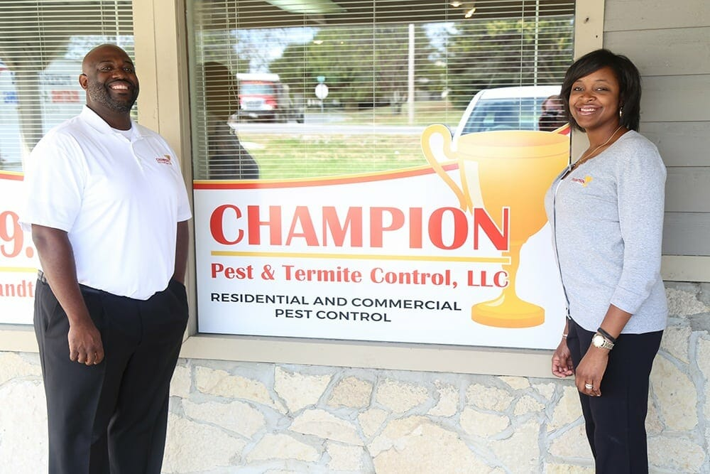 Helen and Dwight Holloway - Co-owners of Champion Pest & Termite Control